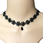 Star Necklace Crystal Choker Necklaces Jewelry Wedding Party Daily Casual Geometric Bohemia Punk Double-layer Alloy 1pc Gift Black
