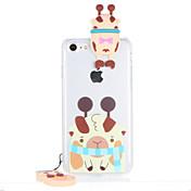 용 투명 패턴 케이스 뒷면 커버 케이스 3D카툰 캐릭터 하드 PC 용 Apple 아이폰 7 플러스 아이폰 (7) iPhone 6s Plus iPhone 6 Plus iPhone 6s 아이폰 6