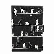 용 지갑 카드 홀더 스탠드 플립 패턴 케이스 풀 바디 케이스 고양이 하드 인조 가죽 용 Apple iPad Mini 4 iPad Mini 3/2/1
