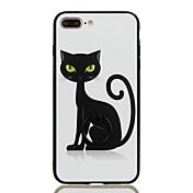 용 링 홀더 패턴 케이스 뒷면 커버 케이스 고양이 하드 PC 용 Apple 아이폰 7 플러스 아이폰 (7)
