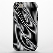 Para Diseños Funda Cubierta Trasera Funda Líneas / Olas Dura Policarbonato para AppleiPhone 7 Plus iPhone 7 iPhone 6s Plus iPhone 6 Plus