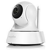 SANNCE 1.0 MP 실내 with 낮 밤 IR-cut 64(낮 밤 모션 감지 리모트 액서스 IR-컷 Wi-Fi 안전 설치 플러그 및 재생) IP Camera