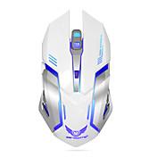 충전식 무선 게임용 마우스 컴퓨터 바탕 화면 노트북 노트북 PC 용 7 색 백라이트 호흡 편안 게이머 마우스