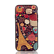 For Apple iPhone 7 7 Plus iPhone 6s 6 Plus Case Cover The Tower Pattern 3D Relief Plastic Back Shell TPU Frame Cases
