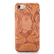 Para Carcasa Funda En Relieve Diseños Cubierta Trasera Funda Fibra de Madera Dibujos Dura Madera para AppleiPhone 7 Plus iPhone 7 iPhone