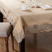 Rectangular Bordado Forros de Mesa , Mezcla de Poliéster y Algodón MaterialHotel Dining Tabla Decoración del banquete de boda Cena