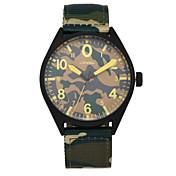 SINOBI 남성 스포츠 시계 밀리터리 시계 패션 시계 석영 방수 섬유 밴드 캐쥬얼 그린 헌터 그린