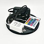 Z®zdm 5m 300x3528 smd rgb luz de tira led y 24key control remoto y 3a eu / us / uk fuente de alimentación (ac110-240v)