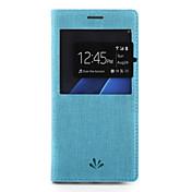 용 케이스 커버 카드 홀더 스탠드 윈도우 풀 바디 케이스 단색 하드 인조 가죽 용 Samsung S7 edge S7