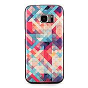Para Carcasa Funda Diseños Cubierta Trasera Funda Diseño Geométrico Suave TPU para Samsung S7 edge S7
