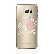 samsung galaxy s8 / s8 / plus 투명 / 패턴 케이스 뒷면 커버 케이스 samsung galaxy s7 / s6 edge plus / s6 edge / s6 용 꽃 소프트 tpu