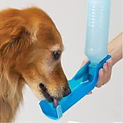고양이 강아지 그릇&물병 애완동물 그릇 & 수유 방수 휴대용 레드 블루 핑크