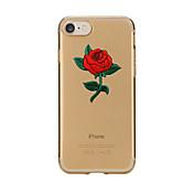 제품 케이스 커버 투명 패턴 뒷면 커버 케이스 꽃장식 소프트 TPU 용 Apple아이폰 7 플러스 아이폰 (7) iPhone 6s Plus iPhone 6 Plus iPhone 6s 아이폰 6 iPhone SE/5s iPhone 5 iPhone