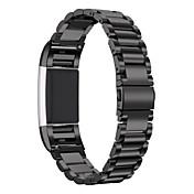 Fitbit charge 2 banda de accesorios de repuesto de acero inoxidable para fitbit charge 2 -black