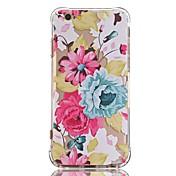 Caso para el iphone ultrafino suave 7 de la cubierta de la contraportada del tpu de la flor del iphone 7 6 más 6 6s más se 5s 5 5c 4s 4
