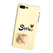 Para Carcasa Funda Diseños Manualidades Blando Cubierta Trasera Funda Palabra / Frase Dura Policarbonato para Apple iPhone 7 Plus iPhone