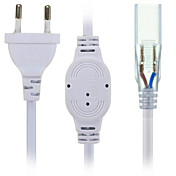 hkv® us / eu 플러그 소켓, 5630/5050 용 2 핀 SMD LED 스트립 라이트 바 ac220-240v