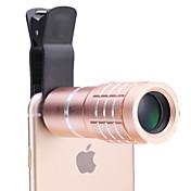 휴대 전화 아이폰 / 삼성 실버 / 골드에 대한 보편적 인 10 × 망원경 렌즈 / 블랙 / 로즈