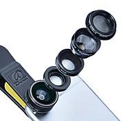 Lentes de la cámara del smartphone de donews lente grande del ángulo 0.45x lente macro 12.5x lente focal larga 12x para el iphone huawei