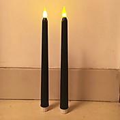 2pcs 11tall clásico parpadeante sin llama led velas cónica pilas llevado velas