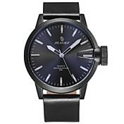 Hombre Reloj Deportivo Reloj de Moda Japonés Cuarzo Resistente al Agua Cuero Auténtico Banda Casual Negro Marrón