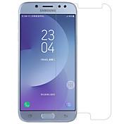 안정된 유리 화면 보호기 용 Samsung Galaxy J7 (2017) 화면 보호 필름 9H강화 2.5D커브 엣지 폭발의 증거 스크래치 방지 지문 방지 고해상도 (HD)
