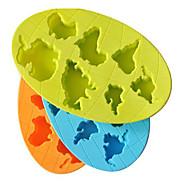 Seven Greatest Kontinent Shaped Ice Tray Mould (zufällige Farbe)