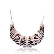 lureme®punk Stil Legierung Zebrastreifen Dreiecksmuster Halskette