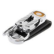 """2.7 """"Acierage doppelte Ringe Schlüsselanhänger mit breitem PU Lederband"""