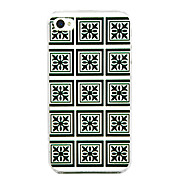 Decorative Pattern Grid Back Case for iPhone 4/4S