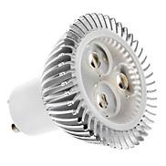 5W GU10 LED Spotlight MR16 3 High Power LED 320 lm Warm White AC 100-240 V