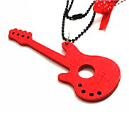 Wooden Colorful Guitar Keychain with Adjustable Chain Length(Random Color)