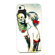 Skull in Mirror Pattern Back Case for iPhone 4/4S