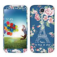 Flowers Eiffel Tower Pattern Body Sticker for Samsung Galaxy S4 I9502