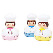 Fat Cook Cartoon Shape Kitchen Timer (Random Color)