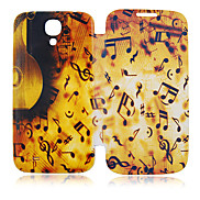 Music Note Full Body Leather Case for Samsung Galaxy S4 I9500