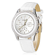 Women's Diamante Dial Alloy Band Quartz Analog Wrist Watch (Assorted Colors) Cool Watches Unique Watches