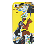 Beautiful Lady Holding Umbrella Pattern Hard Case for iPhone 4/4S
