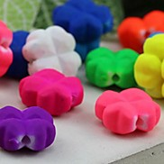 Z&X®  DIY Beads Material Colored Fluorescent Four Leaves Clover Beads 20 PCS(Random Color, Pattern)