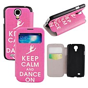 Elonbo Dance Style Leather Stand Full Body Case Cover with Window for Samsung Galaxy S4 I9500