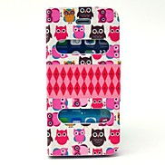 Owl Pattern PU Leather Full Body Case with Stand for iPhone 5/5S