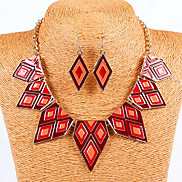 Statement Multicolor Oildrip   Alloy (Necklaces&Earrings&) Gemstone Jewelry Sets(More Color)