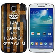 Milocos ™ Greek National Flag Can Not Keep Calm Hard Case for Samsung Galaxy S4 i9500