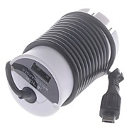 US Plug Power Adapter with Micro USB Charging Cable Adapter for Samsung  HTC iPhone 5/5S(100~240V)