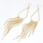 Fashion OL Temperament Simple Droplets Tassel Earrings