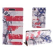Design of The Statue of Liberty PU Full Body Case with Card Slot for Sony Xperia Z2