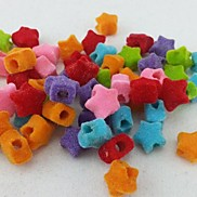Z&X®  DIY Beads Material Colored Stars Shaped Fluffy Beads 100 PCS(Random Color, Pattern)