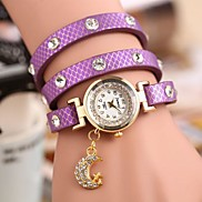 Women's Bohemia Style Fashion PU Leather Bracelet Watch(Assorted Color)