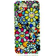 White Cartoon Flower Pattern Hard Case for iPhone 4/4S