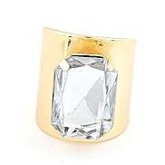 Smooth Opening Gemstone Fashion Metal Adjustable Ring